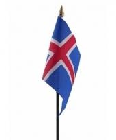 Ijslandse landenvlag op stokje