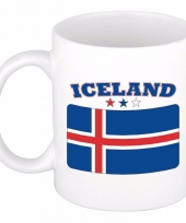 Ijslandse vlag koffiebeker 300 ml