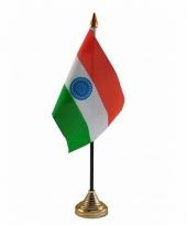 India tafelvlaggetje 10 x 15 cm met standaard