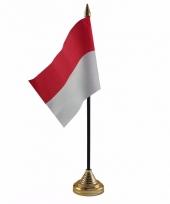 Indonesie tafelvlaggetje 10 x 15 cm met standaard