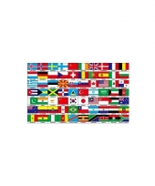 Internationale vlag met 70 landen