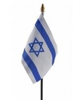 Israelische landenvlag op stokje