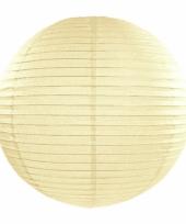 Ivoorkleurige bol lampion 35 cm