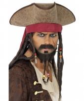 Jack sparrow hoed met zwarte dreadlocks