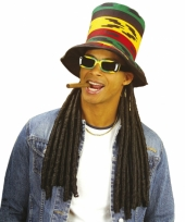 Jamaica hoed met dreadlocks
