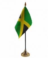 Jamaica tafelvlaggetje 10 x 15 cm met standaard