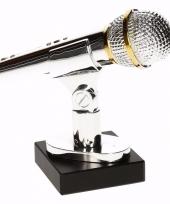 Jamavond prijs zilveren gouden microfoon award 15 cm