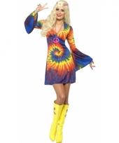 Jaren 60 jurkje in tie dye print