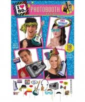 Jaren 80 photo booth set 18 stuks