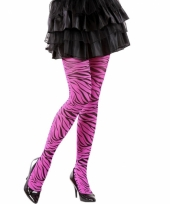 Jaren 90 zebra panty roze
