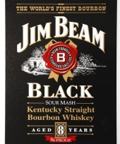 Jim beam black muurplaat 41x32