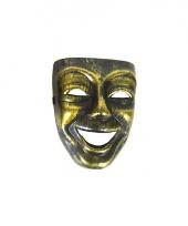 Joker masker goud met zwart