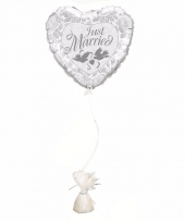 Just married ballon met ballon gewicht