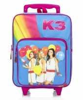 K3 koffer trolley roze voor meisjes