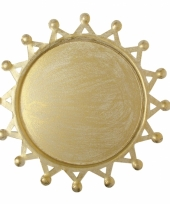 Kaars onderbord gouden zon