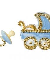 Kaarsen decoratie blauwe geboorte figuren