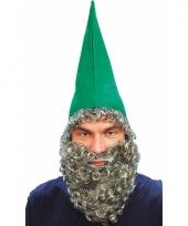 Kabouter hoed met grijs baardje