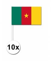 Kameroen zwaai vlaggetjes 10 stuks