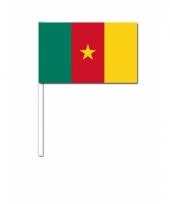 Kameroen zwaai vlaggetjes 12 x 24 cm