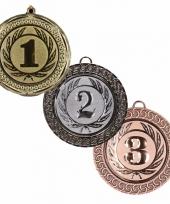 Kampioenen medailles goud zilver en brons