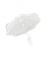 Kanten parasolletje wit 70 cm
