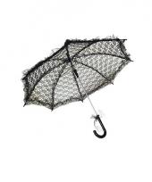 Kanten parasolletje zwart 70 cm