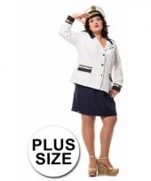 Kapitein kostuum voor dames grote maat