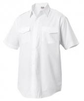 Kapitein overhemden korte mouw