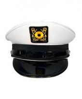 Kapiteins pet met goudkleurig embleem