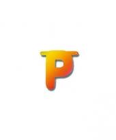 Kartonnen letter p