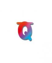 Kartonnen letter q