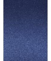 Kartonnen vel glitter blauw