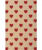 Kartonnen vel met rode hartjes