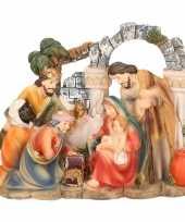 Katholiek kerststal beeldje 3 wijzen 14 cm