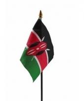 Keniaanse landenvlag op stokje
