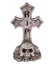 Kerkhof grafsteen met led ogen