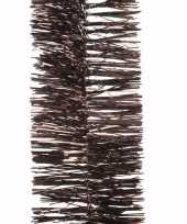 Kerst bruine folieslinger chique christmas 270 cm