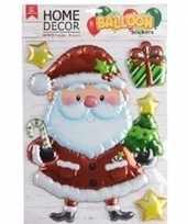 Kerst decoratie 3d raamstickers kerstman 28 x 41 cm