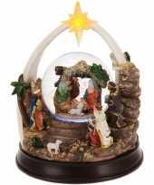 Kerst decoratie sneeuwbol 23 cm type 1 met led verlichting
