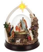 Kerst decoratie sneeuwbol 23 cm type 2 met led verlichting