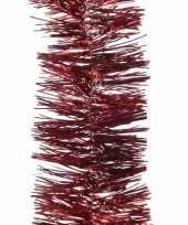Kerst donkerrode folieslinger cosy christmas 270 cm