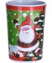 Kerst drinkbeker kerstman 11 cm