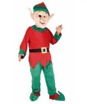 Kerst elfen kostuum voor volwassen met groot masker