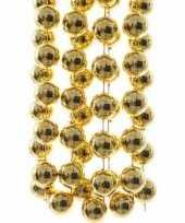 Kerst gouden xxl kralenslinger sweet christmas 270 cm
