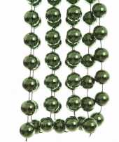 Kerst groene xxl kralenslinger nature christmas 270 cm