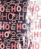 Kerst inpakpapier zilver roze rol 150 x 70 cm