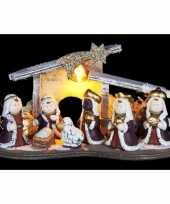 Kerst kerststal decoratie led 16 cm