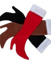 Kerst kous bruin in de vorm van dameslaars