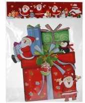 Kerst raamstickers raamdecoratie 3d cadeautje 25 x 34 cm