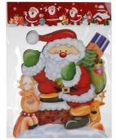 Kerst raamstickers raamdecoratie 3d kerstman 25 x 34 cm 10110168